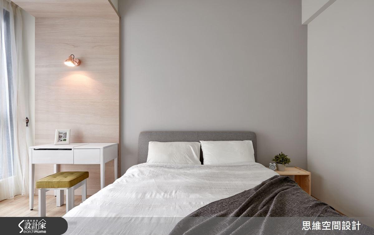 32坪新成屋(5年以下)_簡約風臥室案例圖片_思維空間設計有限公司_思維_30之19