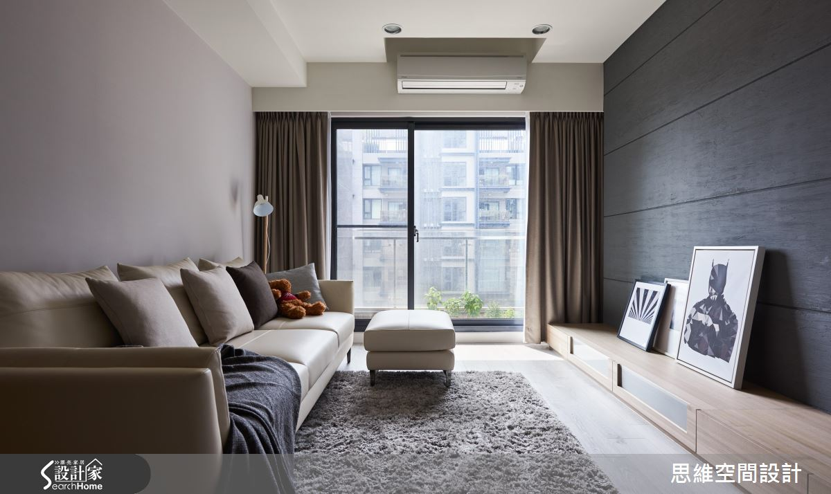 超唯美灰藍色白日夢!30 坪的現代風浪漫新婚宅