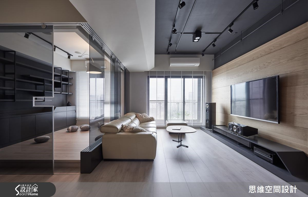 30坪新成屋(5年以下)_現代風客廳工作區案例圖片_思維空間設計有限公司_思維_32之4