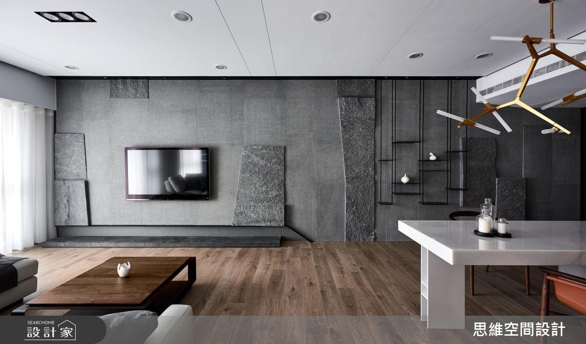 36坪新成屋(5年以下)_現代風客廳案例圖片_思維空間設計有限公司_思維_36之2