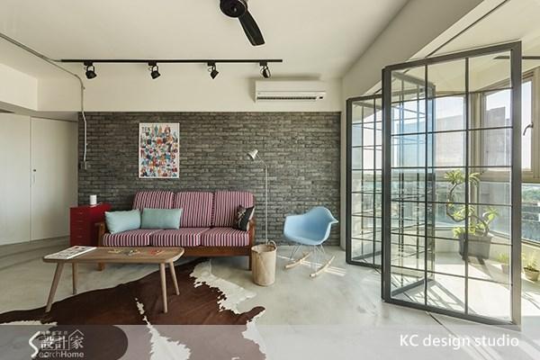 35坪老屋(16~30年)_工業風客廳案例圖片_KC design studio 均漢設計_KC_01之1