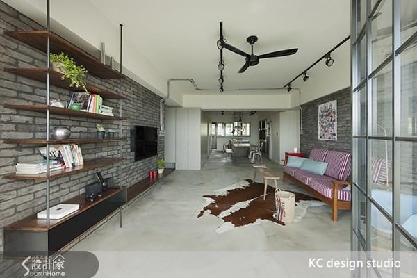 35坪老屋(16~30年)_工業風客廳餐廳案例圖片_KC design studio 均漢設計_KC_01之3