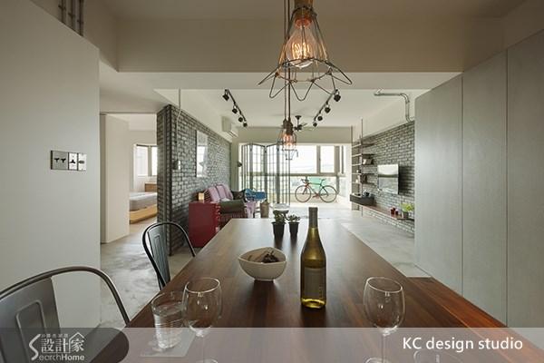 35坪老屋(16~30年)_工業風客廳餐廳案例圖片_KC design studio 均漢設計_KC_01之9