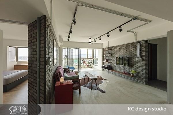 35坪老屋(16~30年)_工業風玄關客廳案例圖片_KC design studio 均漢設計_KC_01之6