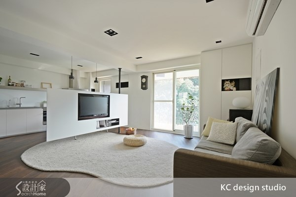 24坪中古屋(5~15年)_簡約風客廳廚房案例圖片_KC design studio 均漢設計_KC_03之1
