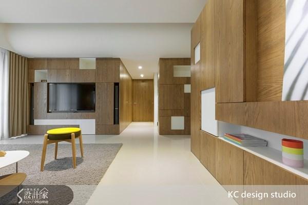 85坪新成屋(5年以下)_簡約風客廳走廊案例圖片_KC design studio 均漢設計_KC_07之4