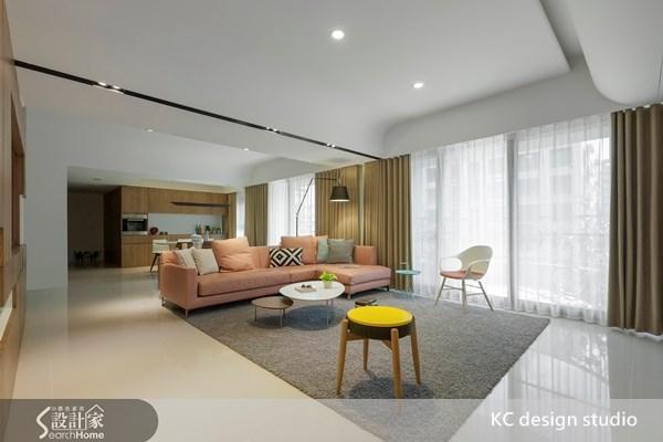 85坪新成屋(5年以下)_簡約風客廳案例圖片_KC design studio 均漢設計_KC_07之1
