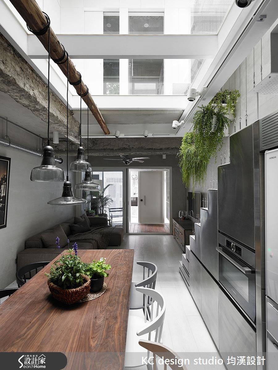 42坪老屋(16~30年)_工業風客廳餐廳樓梯案例圖片_KC design studio 均漢設計_KC_17之8