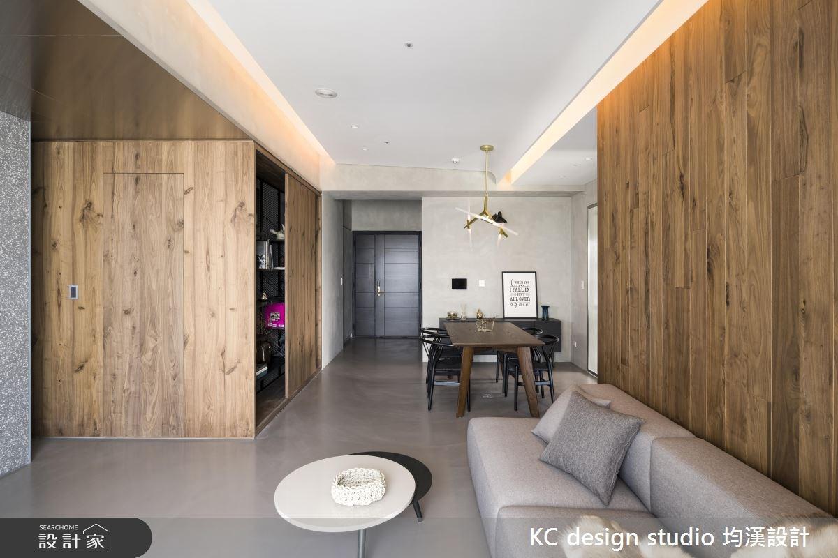 22坪新成屋(5年以下)_現代風玄關客廳餐廳案例圖片_KC design studio 均漢設計_KC_20之5