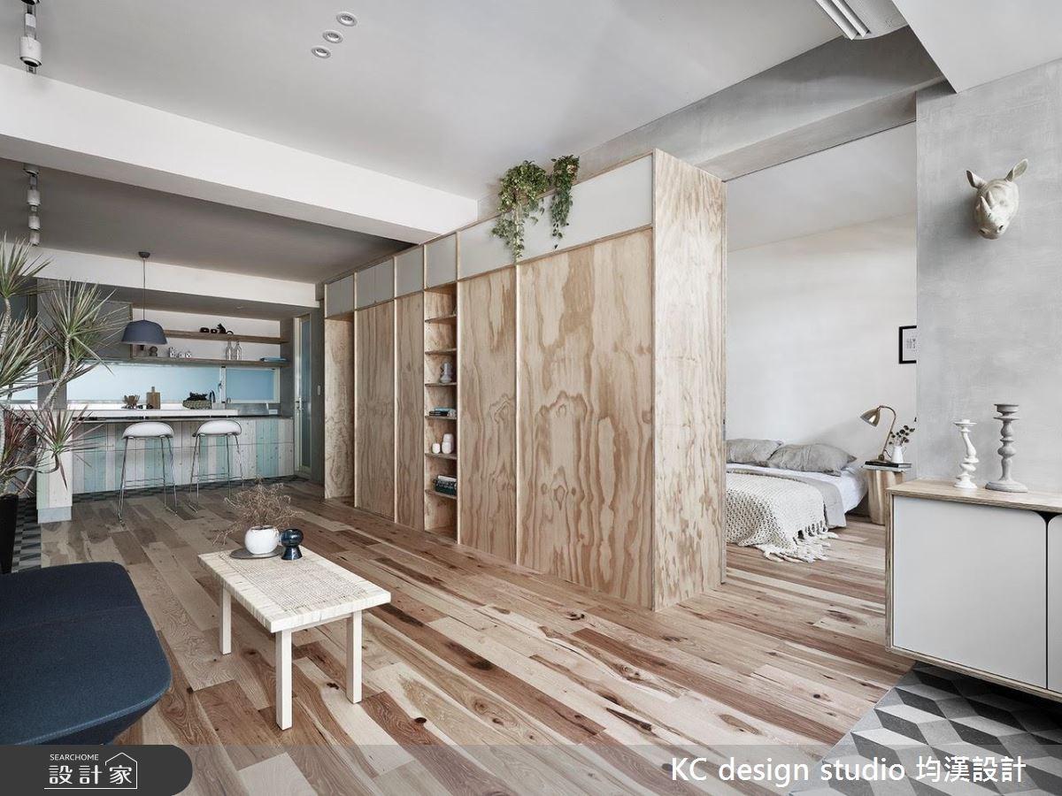 22坪中古屋(5~15年)_北歐風客廳臥室案例圖片_KC design studio 均漢設計_KC_22之1