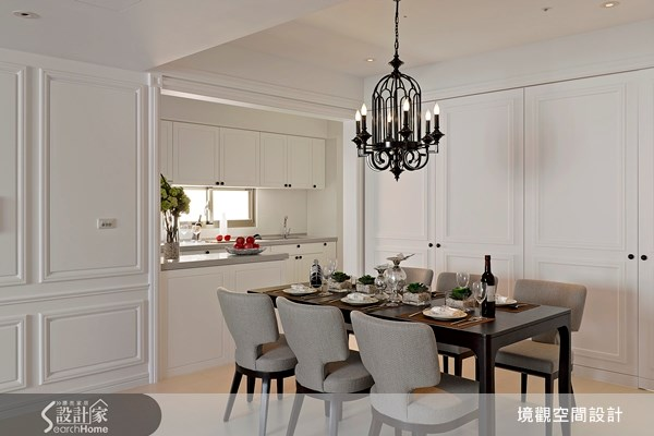 45坪老屋(16~30年)_新古典餐廳廚房案例圖片_境觀空間設計_境觀_02之6