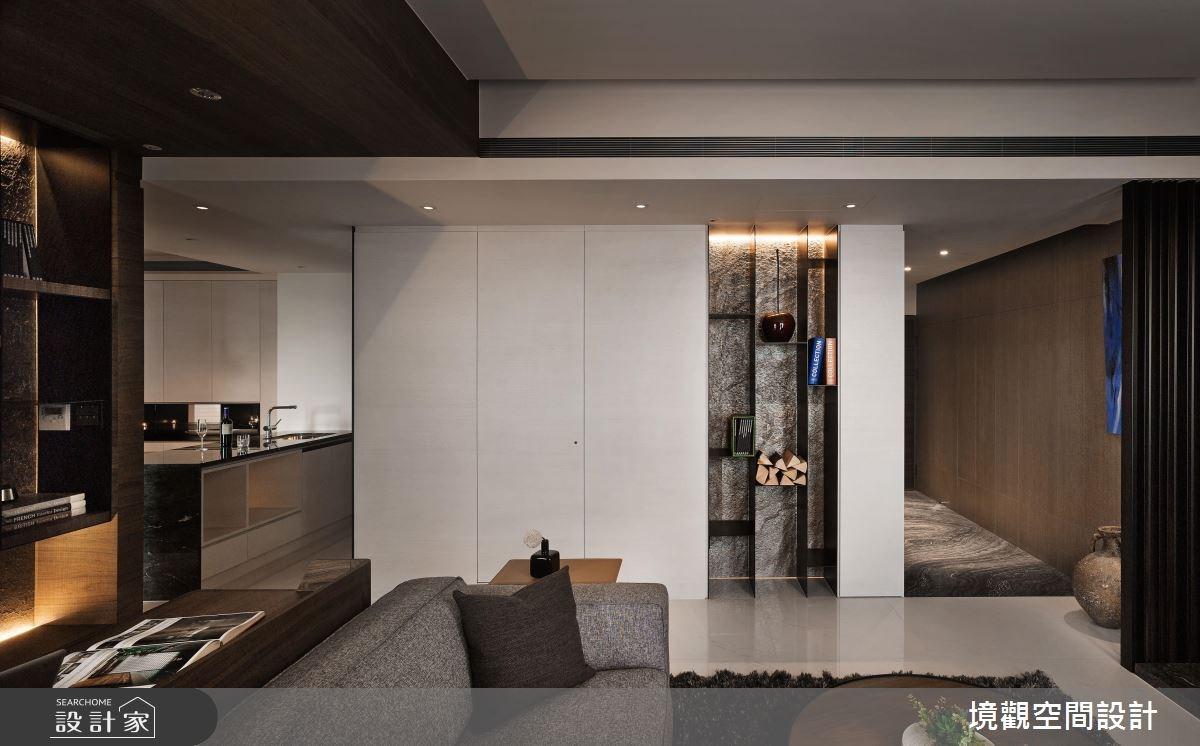 28坪新成屋(5年以下)_現代風玄關客廳廚房案例圖片_境觀空間設計_境觀_10之3