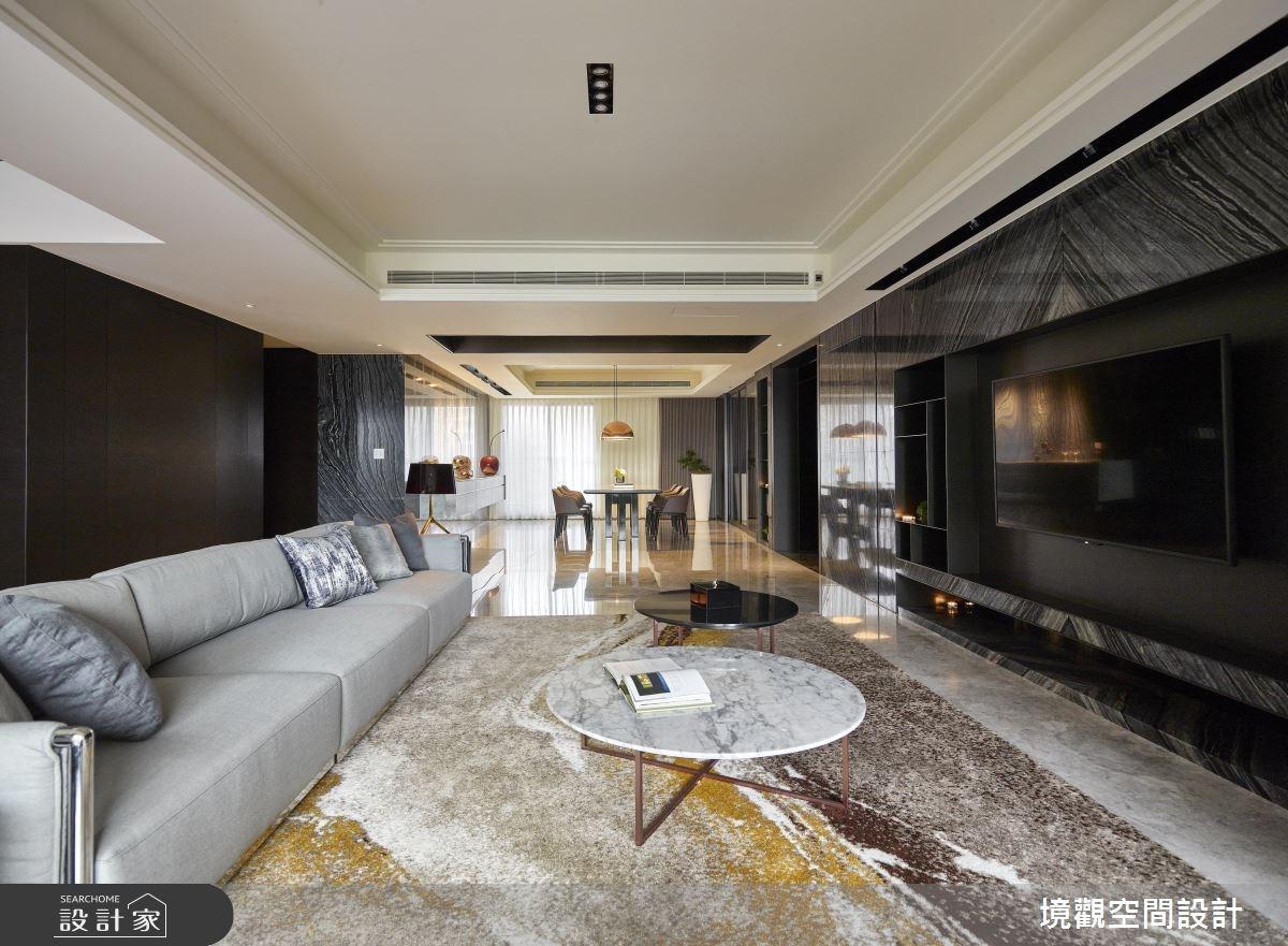 120坪新成屋(5年以下)_現代風客廳案例圖片_境觀空間設計_境觀_15之2
