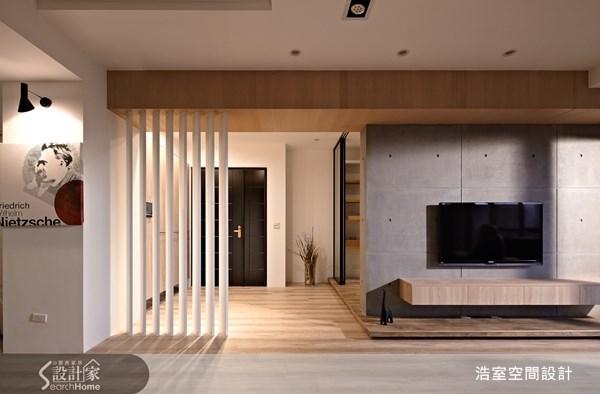 45坪新成屋(5年以下)_現代風玄關客廳案例圖片_浩室設計_浩室_08之2