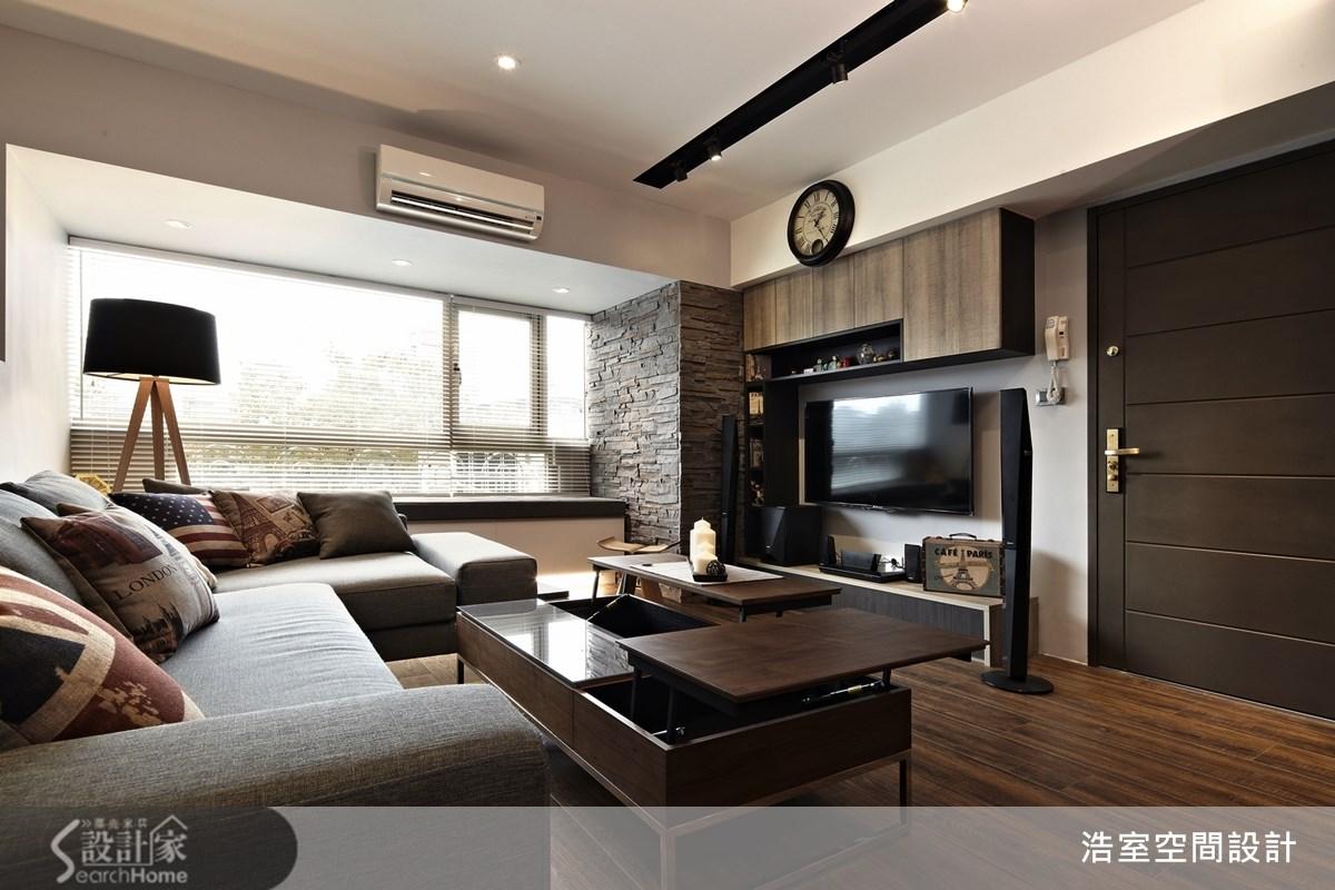25坪新成屋(5年以下)_現代風客廳案例圖片_浩室設計_浩室_09之4