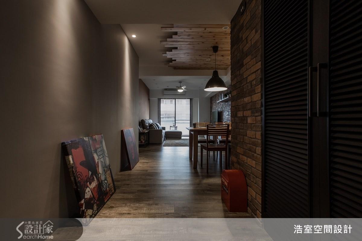 25坪老屋(16~30年)_美式風走廊案例圖片_浩室設計_浩室_11之3