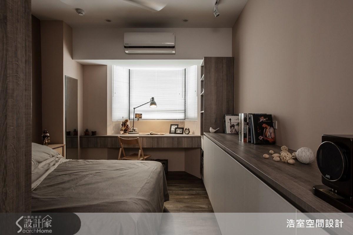 25坪老屋(16~30年)_美式風臥室案例圖片_浩室設計_浩室_11之13