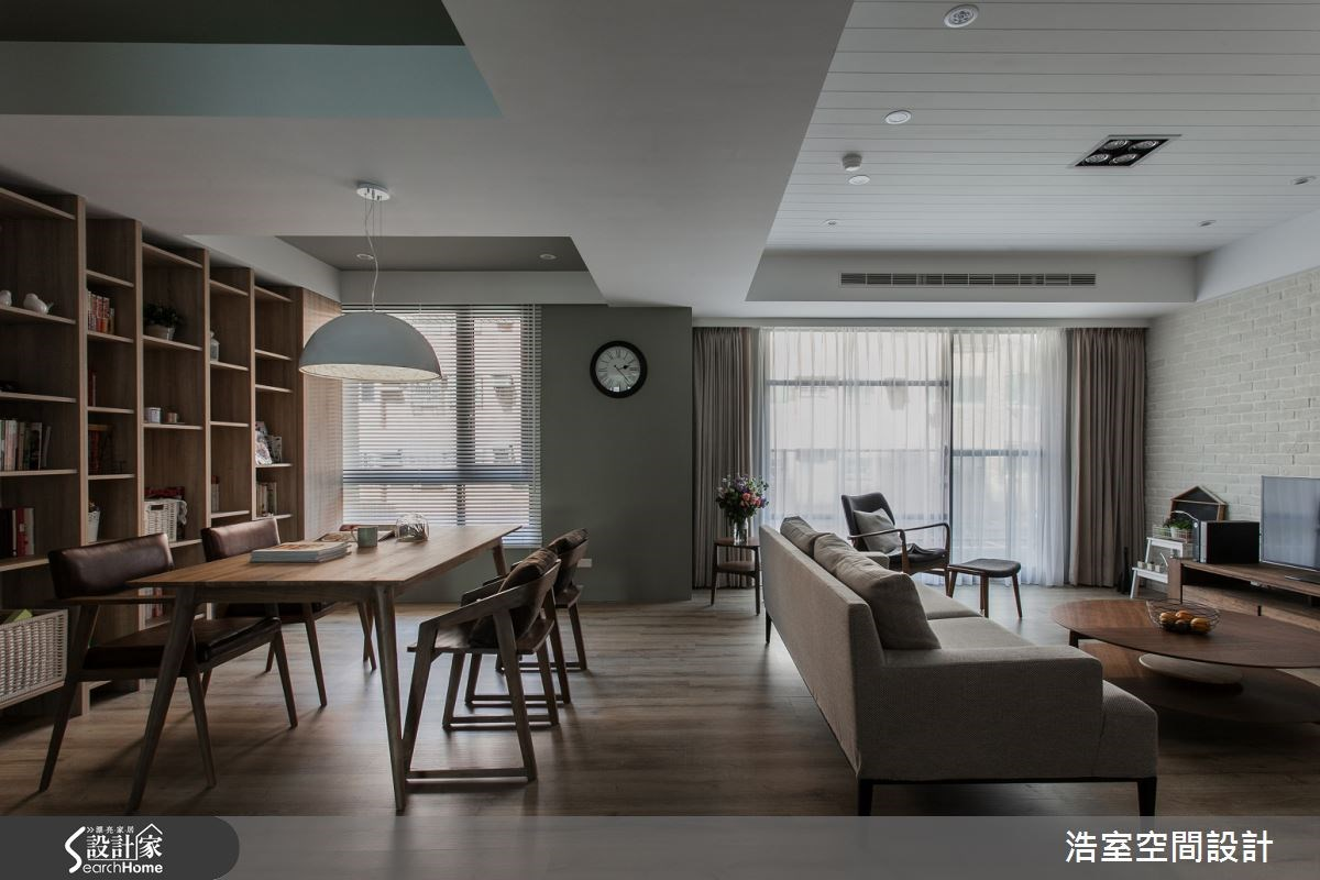 25坪新成屋(5年以下)_現代風客廳案例圖片_浩室設計_浩室_12之1