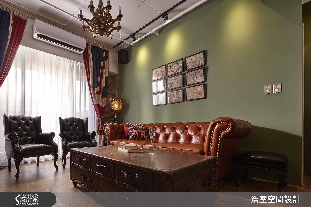 25坪新成屋(5年以下)_工業風客廳案例圖片_浩室設計_浩室_15之7