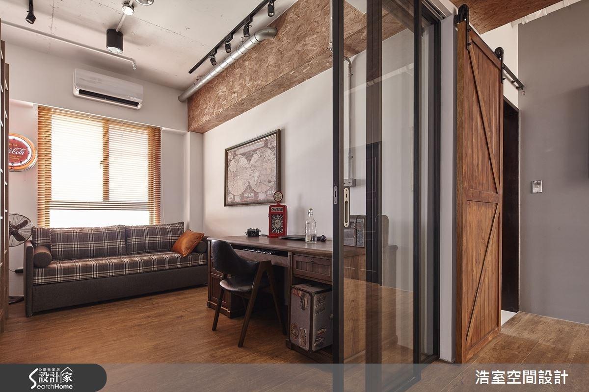 25坪新成屋(5年以下)_工業風書房案例圖片_浩室設計_浩室_15之13