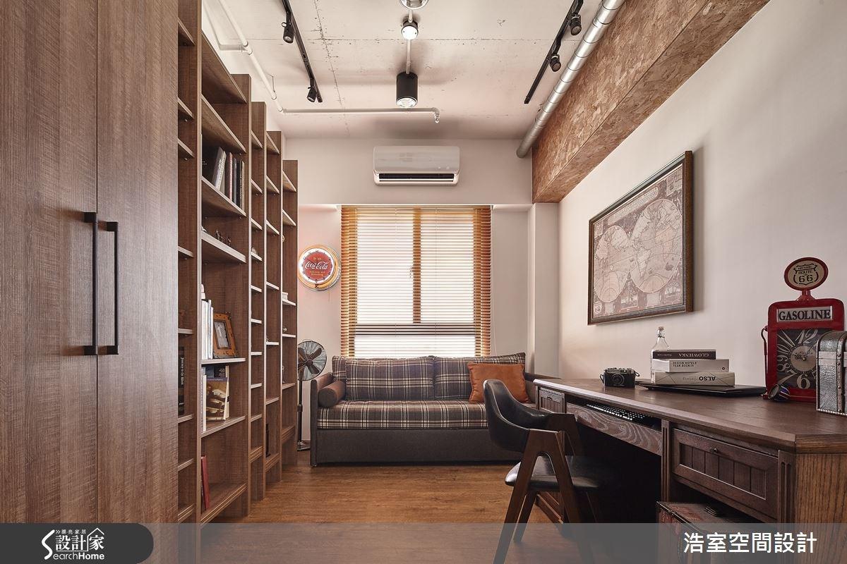 25坪新成屋(5年以下)_工業風書房案例圖片_浩室設計_浩室_15之14