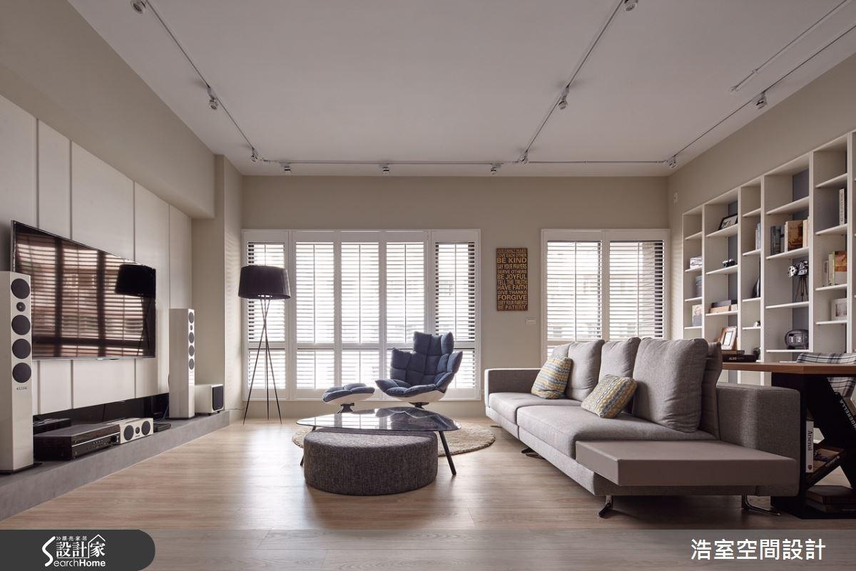 30坪新成屋(5年以下)_北歐風客廳案例圖片_浩室設計_浩室_18之3