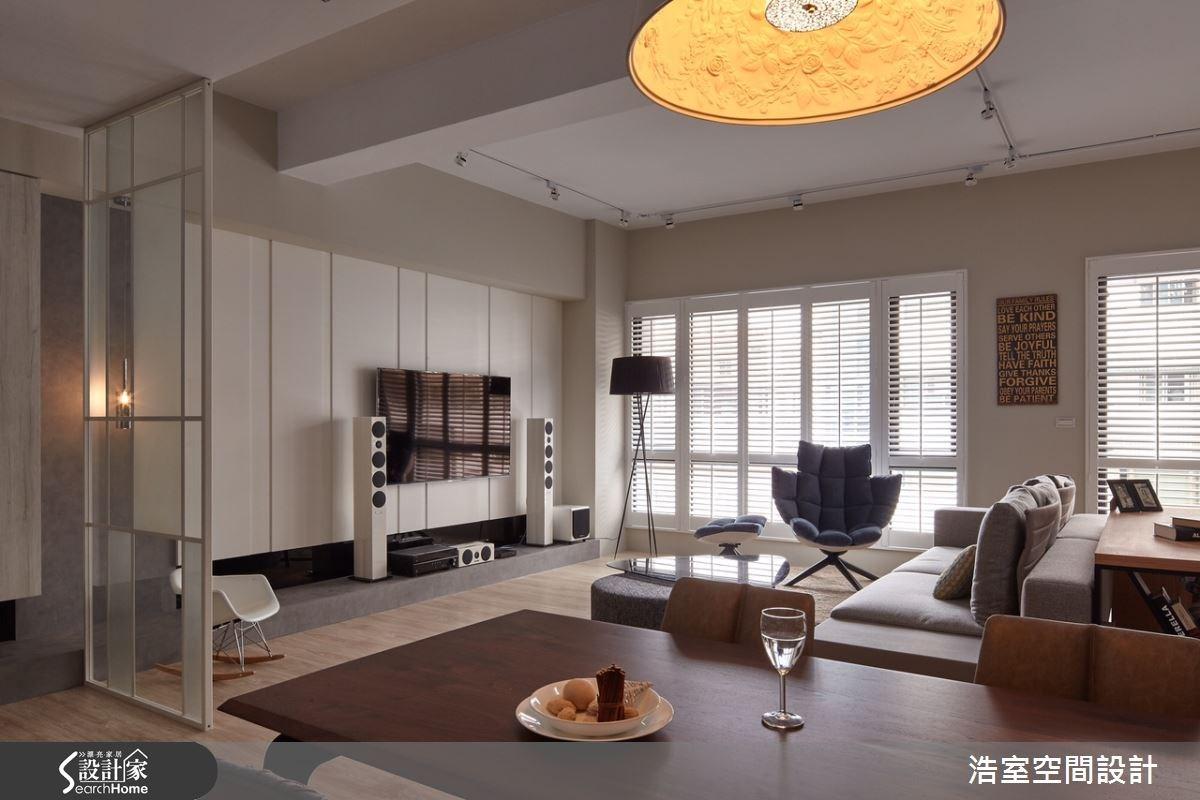 30坪新成屋(5年以下)_北歐風客廳案例圖片_浩室設計_浩室_18之4