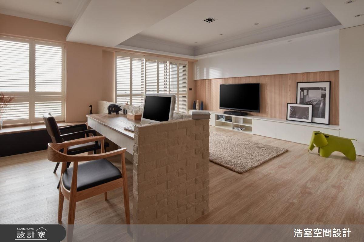 30坪新成屋(5年以下)_北歐風客廳書房案例圖片_浩室設計_浩室_22之10