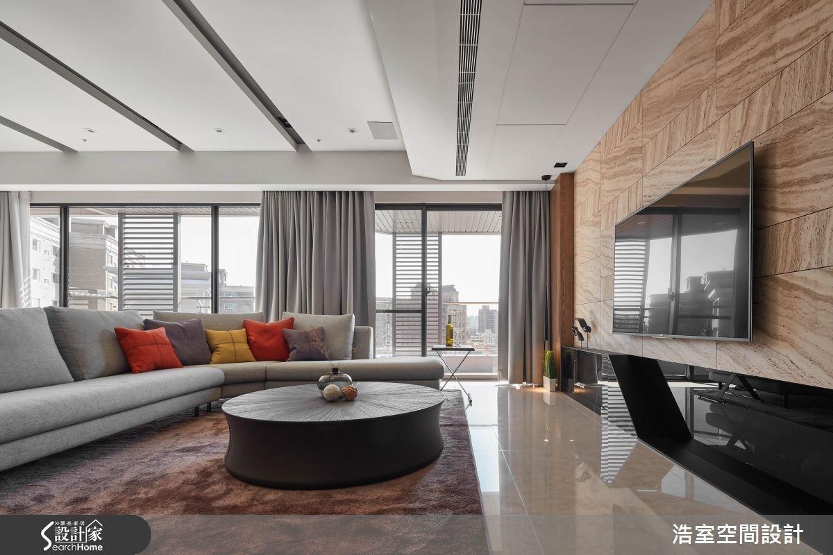 85坪新成屋(5年以下)_休閒風客廳案例圖片_浩室設計_浩室_25之3
