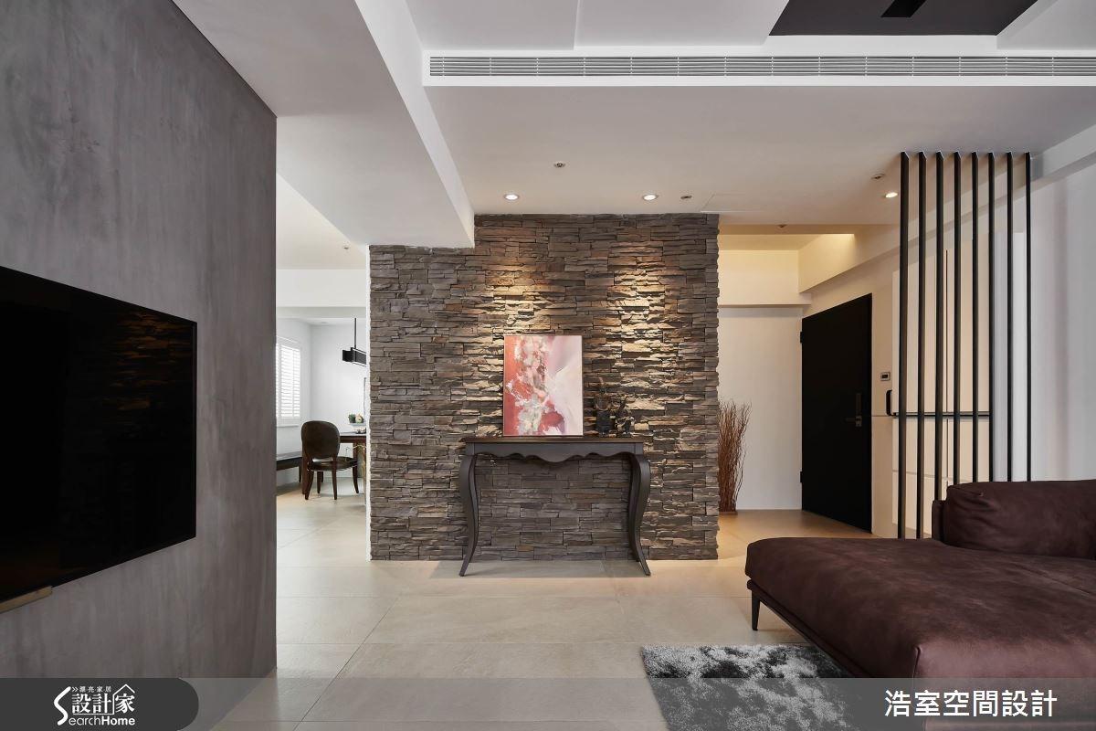 35坪老屋(16~30年)_混搭風玄關客廳走廊案例圖片_浩室設計_浩室_26之3