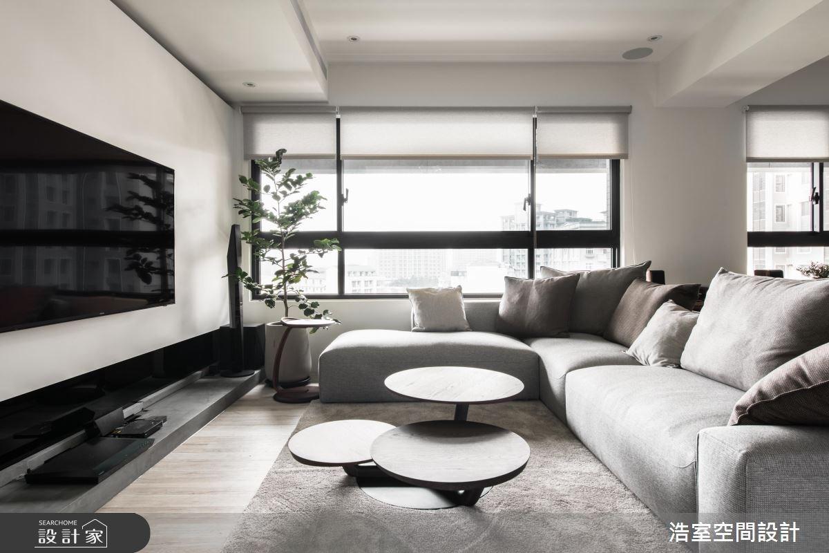 35坪新成屋(5年以下)_北歐風客廳案例圖片_浩室設計_浩室_27之3