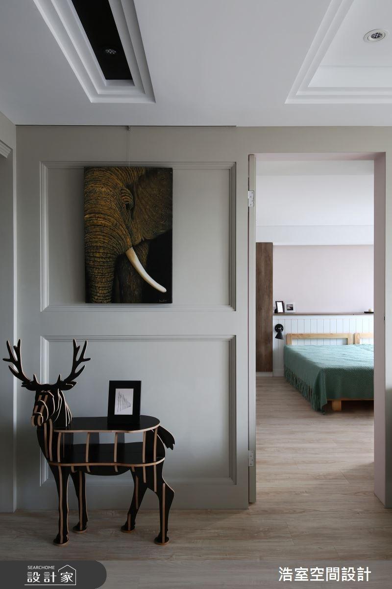 35坪老屋(16~30年)_美式風臥室走廊案例圖片_浩室設計_浩室_29之7