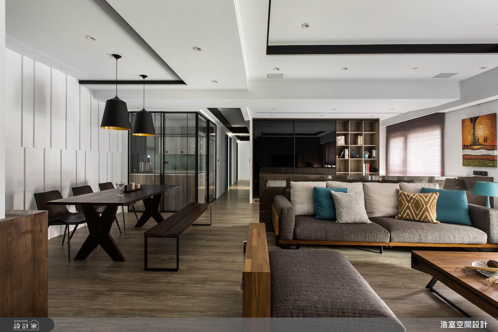 80坪新成屋(5年以下)_北歐風客廳餐廳案例圖片_浩室設計_浩室_30之3