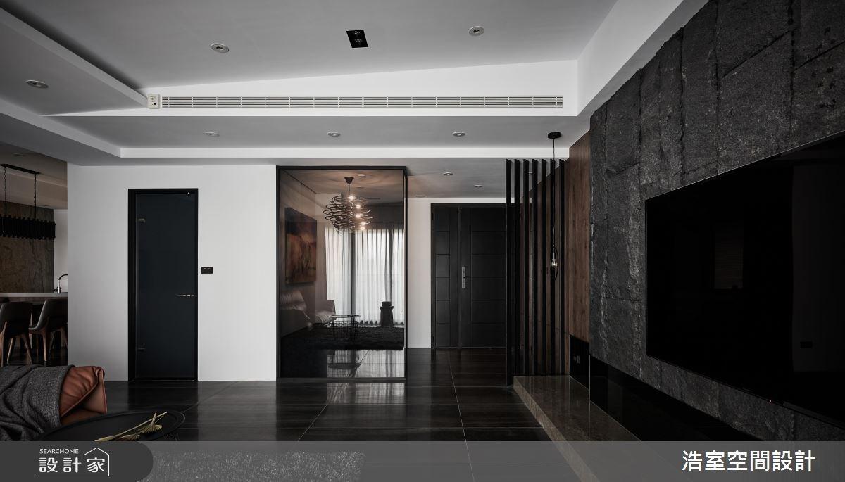 50坪新成屋(5年以下)_現代風客廳案例圖片_浩室設計_浩室_32之5
