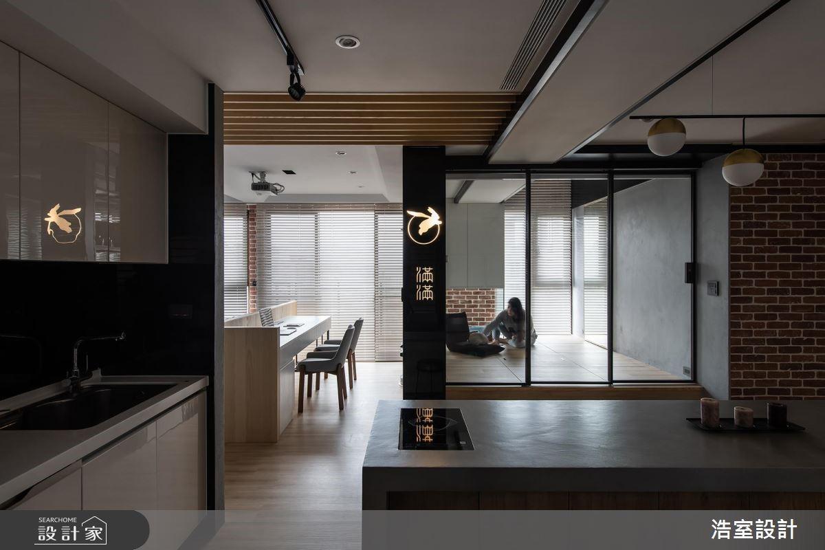 45坪新成屋(5年以下)_混搭風餐廳吧檯案例圖片_浩室設計_浩室_38之15