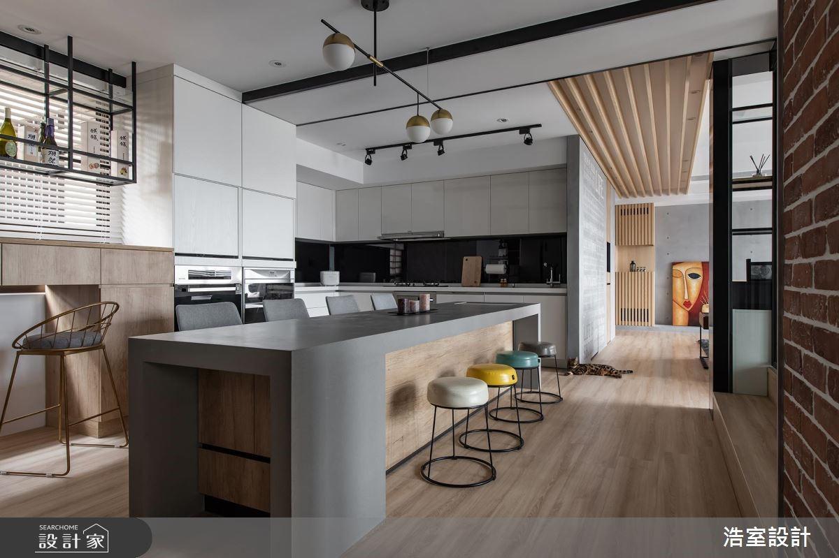 45坪新成屋(5年以下)_混搭風餐廳吧檯案例圖片_浩室設計_浩室_38之11