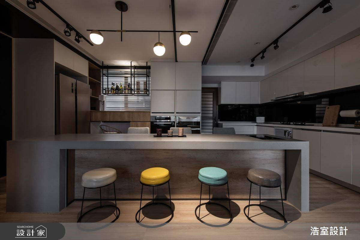 45坪新成屋(5年以下)_混搭風餐廳吧檯案例圖片_浩室設計_浩室_38之12
