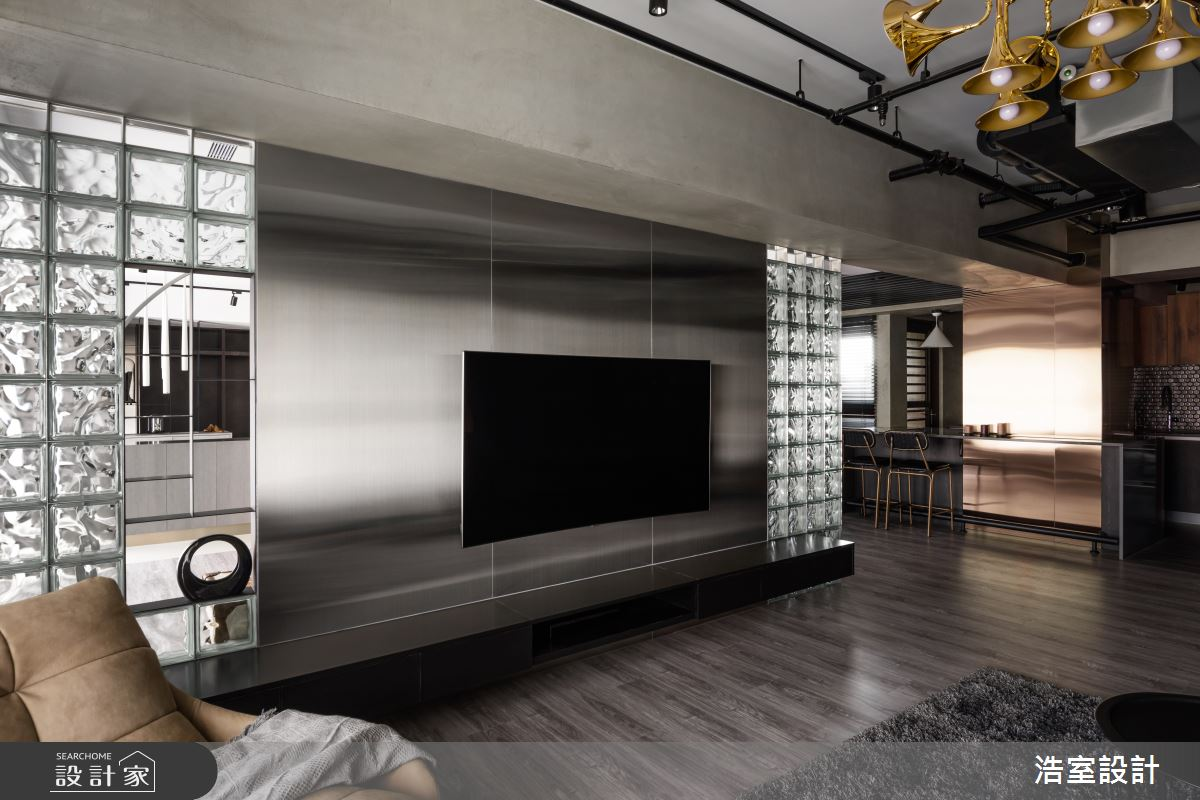 30坪新成屋(5年以下)_工業風客廳案例圖片_浩室設計_浩室_39之3
