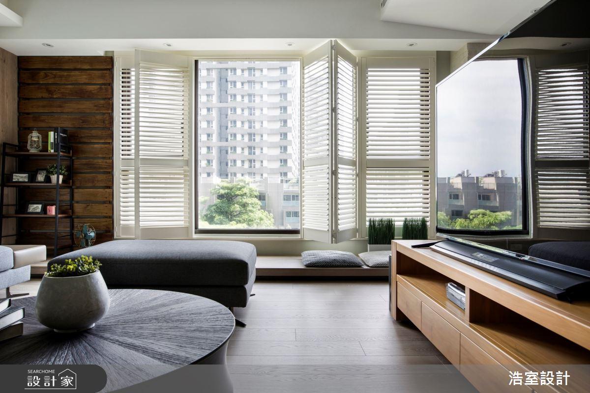 35坪新成屋(5年以下)_現代風客廳案例圖片_浩室設計_浩室_43之4