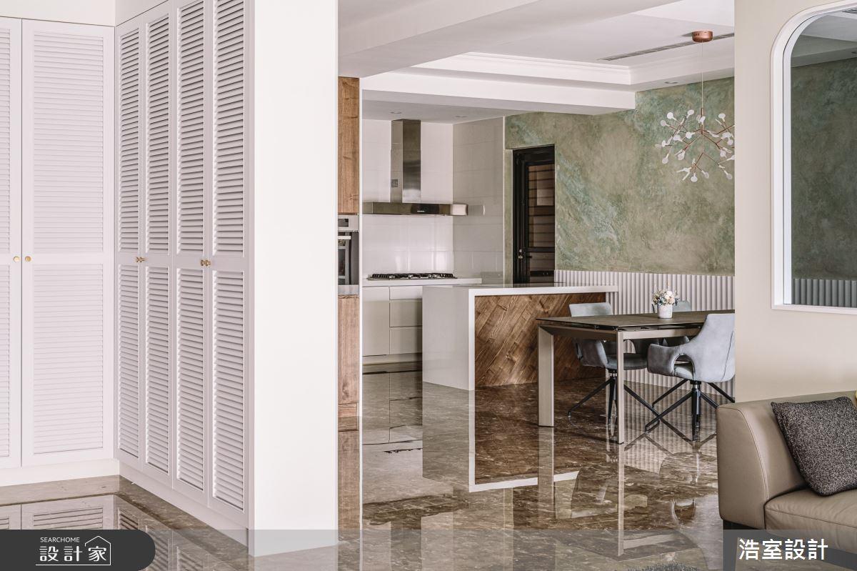 45坪中古屋(5~15年)_混搭風玄關餐廳廚房吧檯案例圖片_浩室設計_浩室_46之2