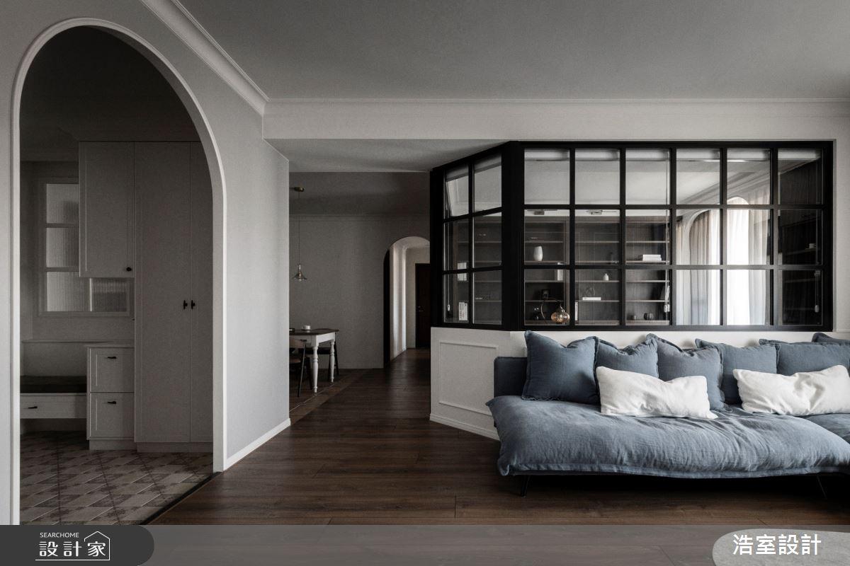 45坪新成屋(5年以下)_美式風玄關客廳案例圖片_浩室設計_浩室_48之4