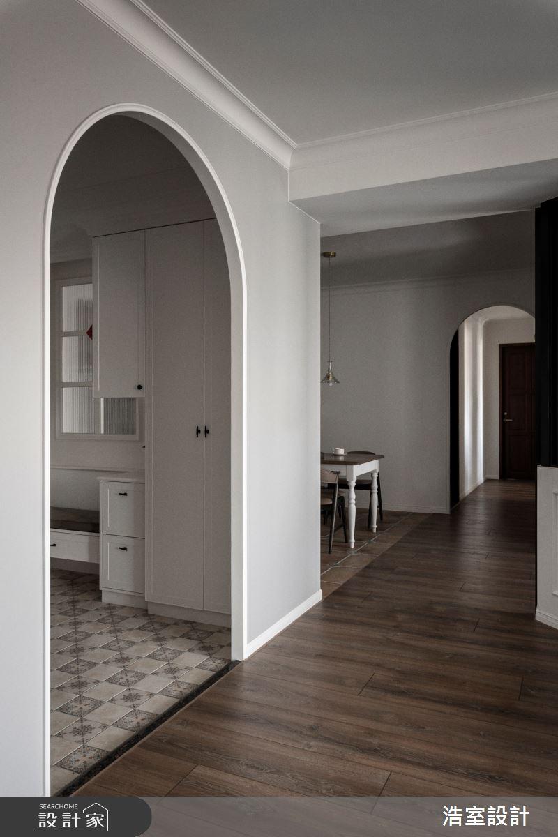 45坪新成屋(5年以下)_美式風玄關案例圖片_浩室設計_浩室_48之3