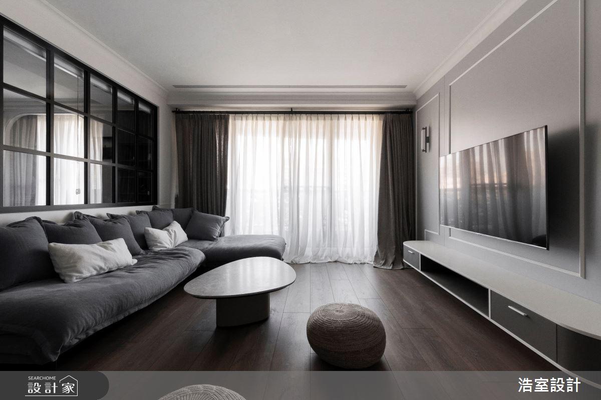 45坪新成屋(5年以下)_美式風客廳案例圖片_浩室設計_浩室_48之5