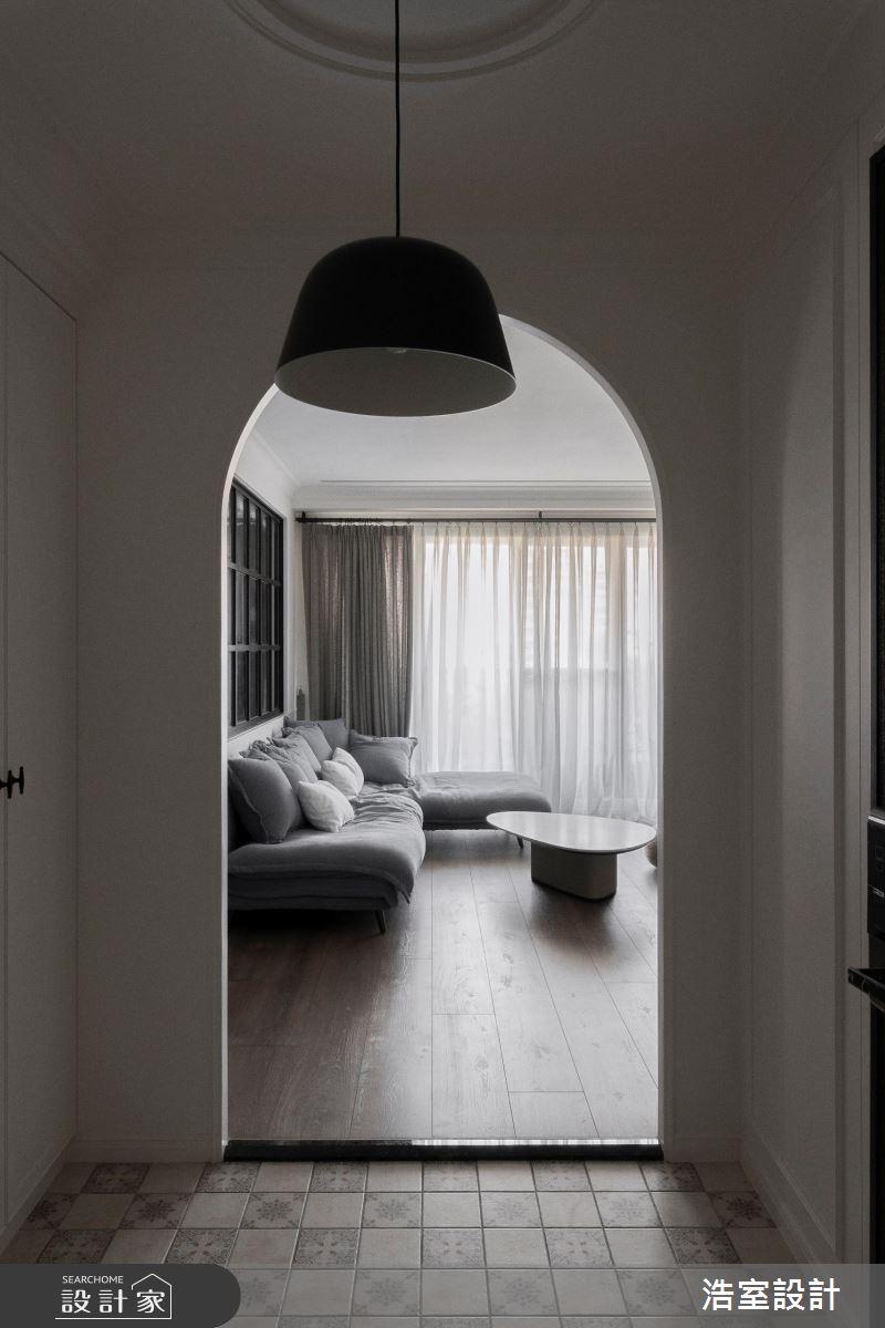 45坪新成屋(5年以下)_美式風玄關案例圖片_浩室設計_浩室_48之2