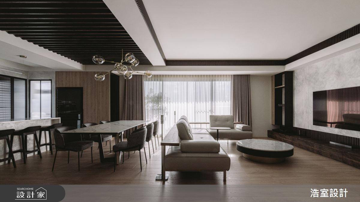 45坪新成屋(5年以下)_休閒風客廳案例圖片_浩室設計_浩室_53之3