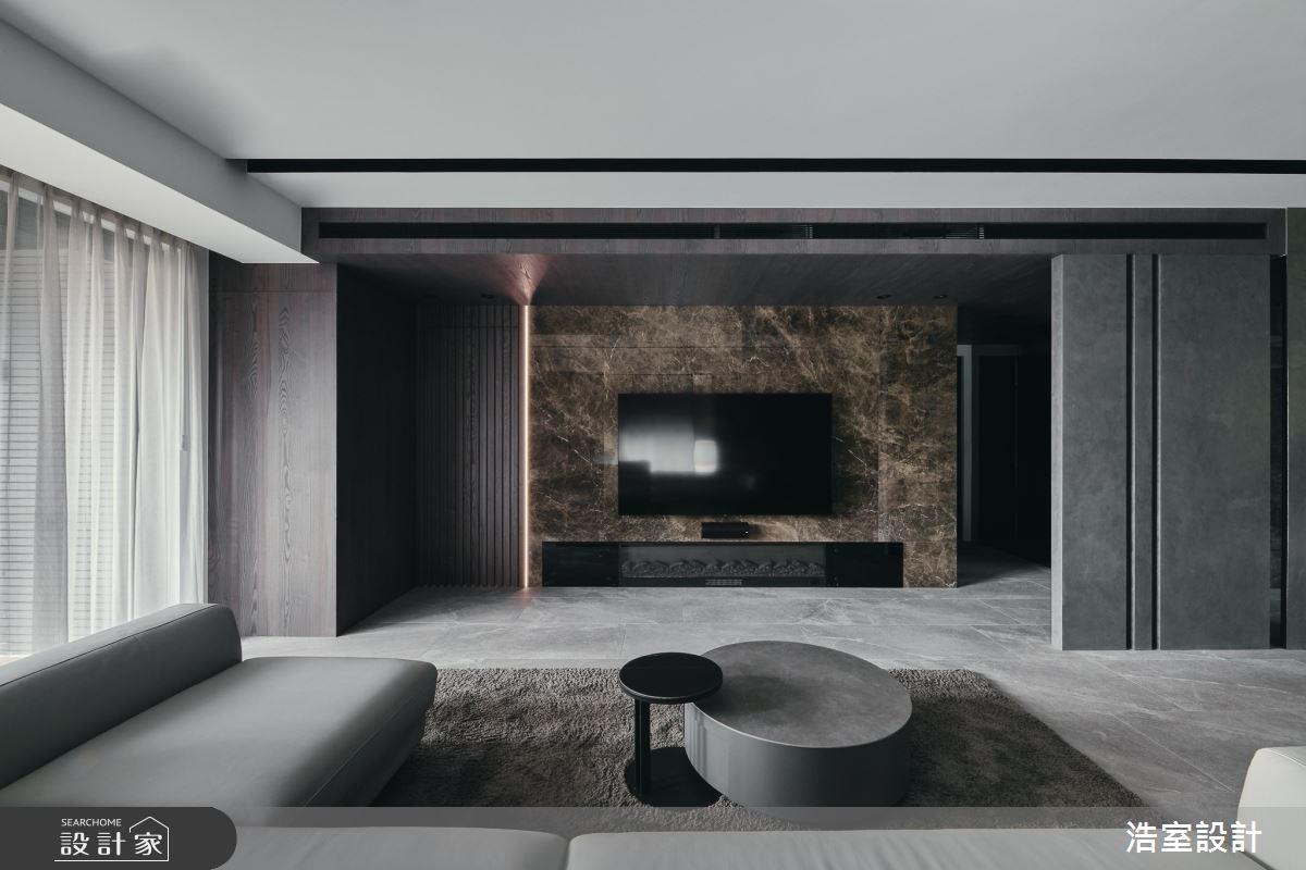 35坪新成屋(5年以下)_飯店風客廳案例圖片_浩室設計_浩室_58之6