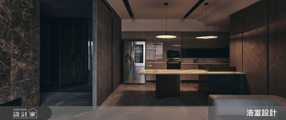 35坪新成屋(5年以下)_飯店風廚房吧檯案例圖片_浩室設計_浩室_58之7