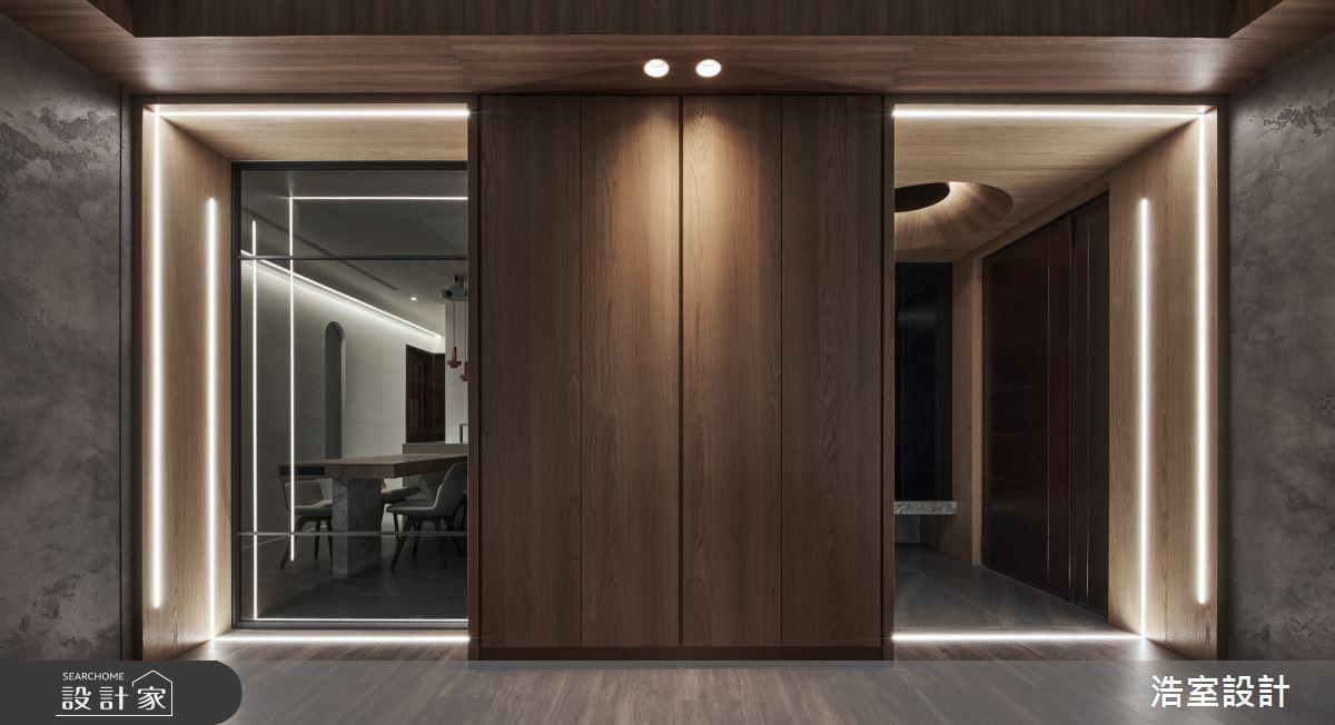 40坪新成屋(5年以下)_現代風玄關案例圖片_浩室設計_浩室_59之1
