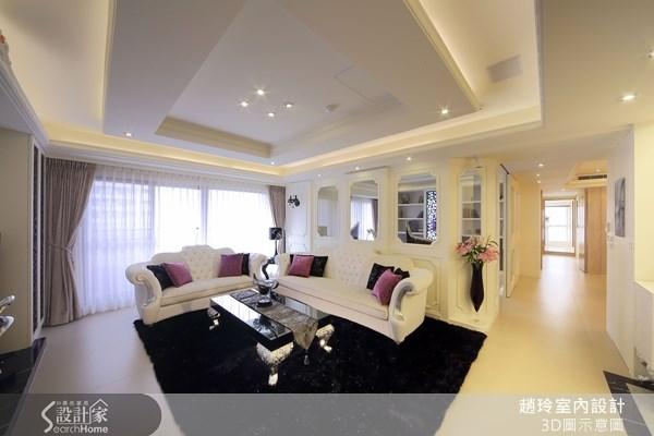 80坪新成屋(5年以下)_新古典客廳走廊案例圖片_趙玲室內設計有限公司_趙玲_04之1
