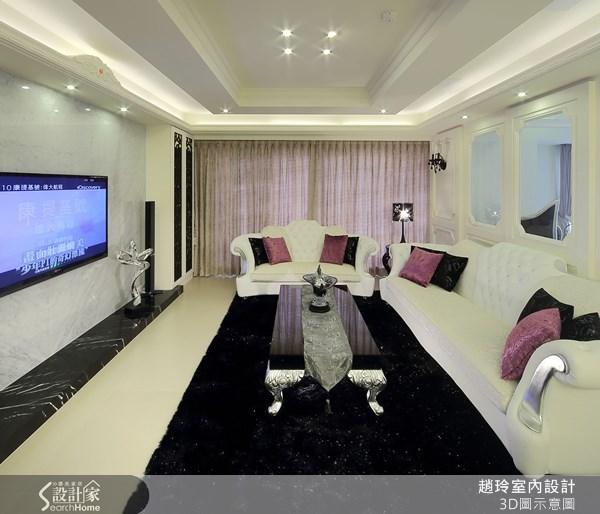 80坪新成屋(5年以下)_新古典客廳案例圖片_趙玲室內設計有限公司_趙玲_04之3